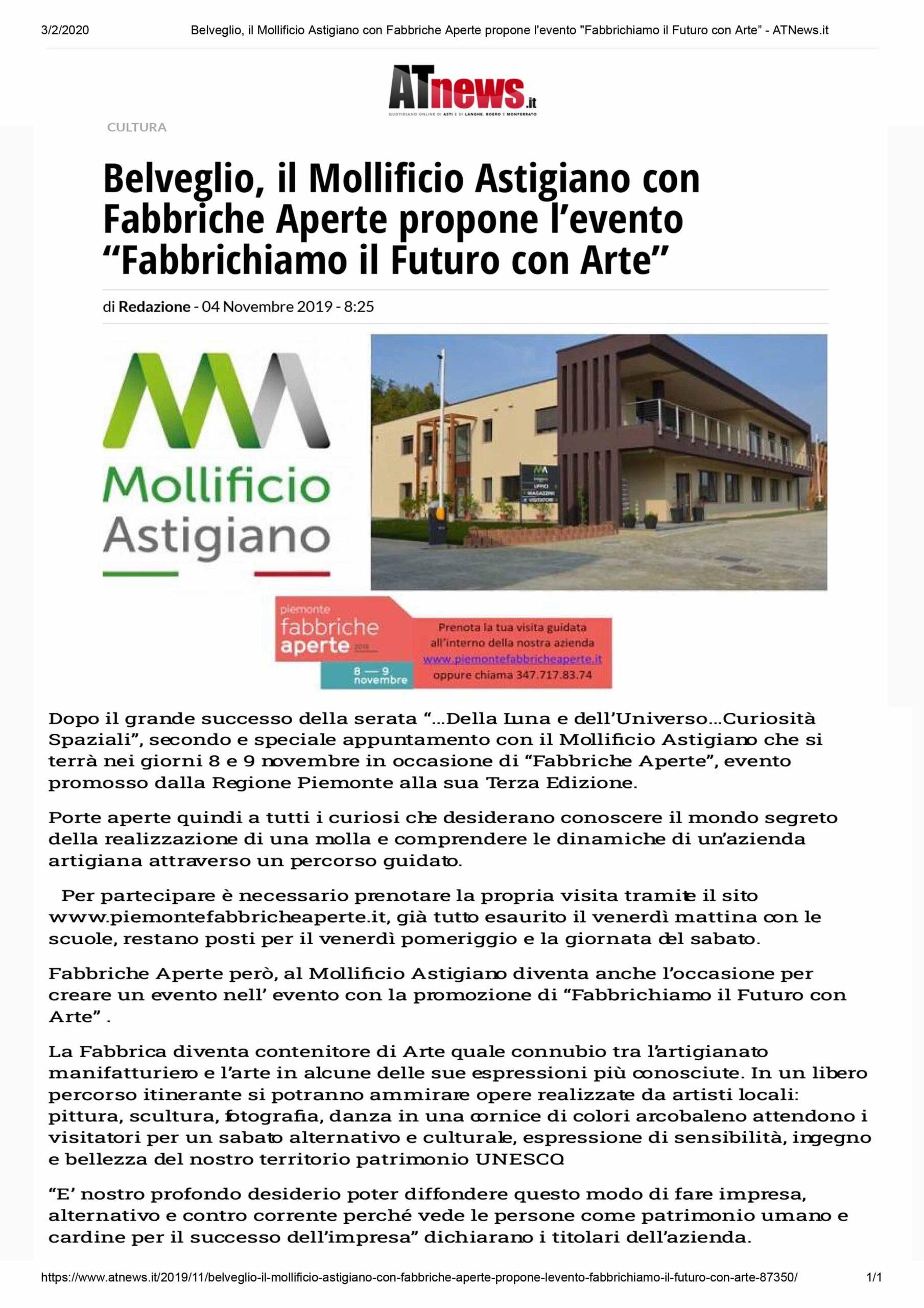 AT NEWS-Fabbriche-aperte 2019-Mollificio-Astigiano-Belveglio