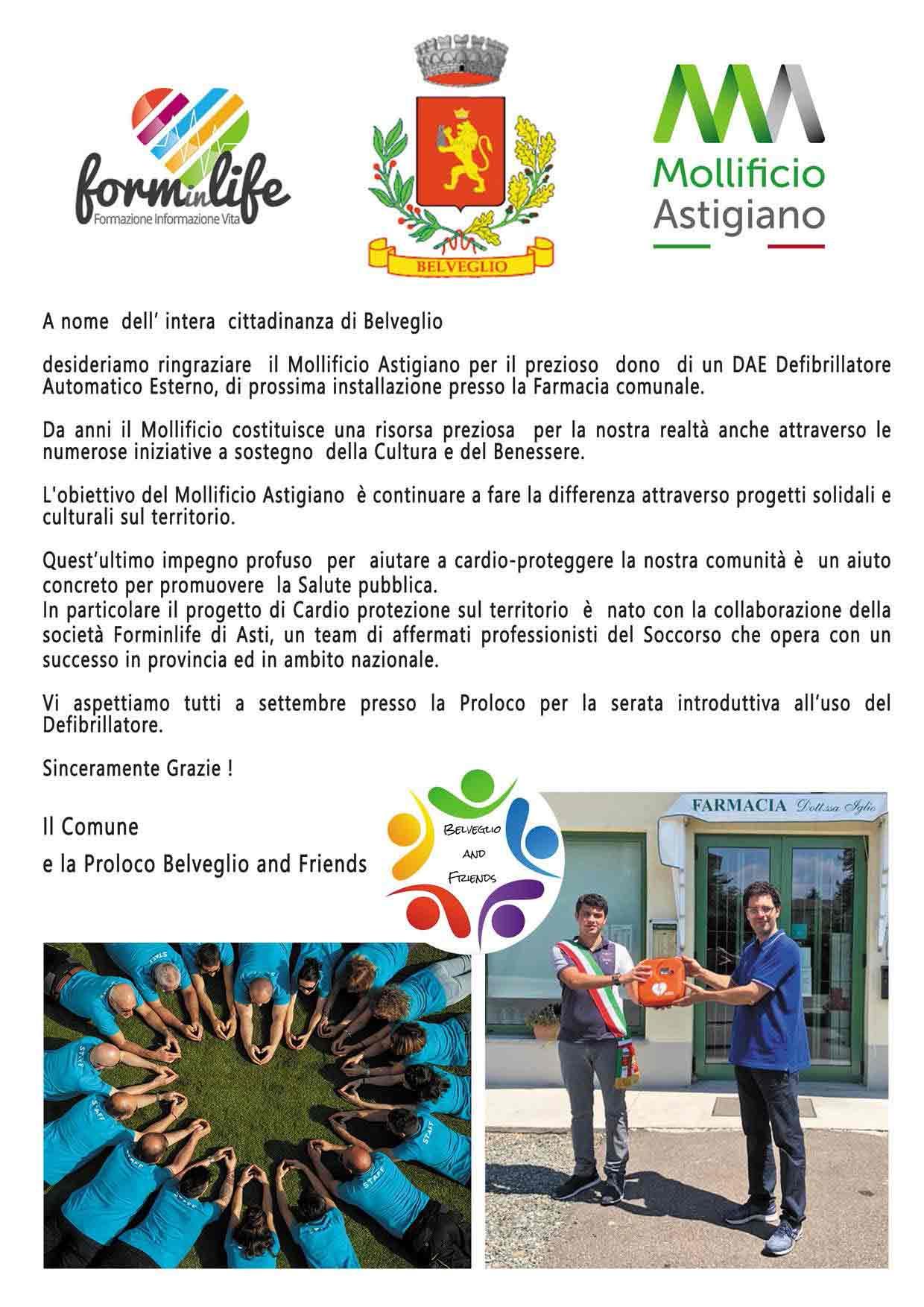 donazione-DAE-Mollifcicio Astigiano-Belveglio