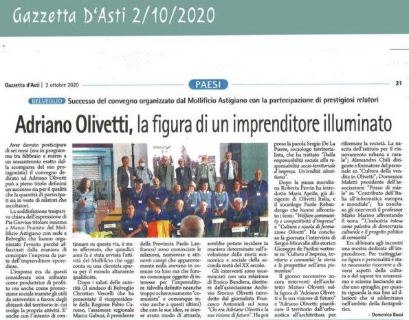 Olivetti-La figura-di-un-imprenditore-illuminato-Gazzetta-2-ottobre-2020