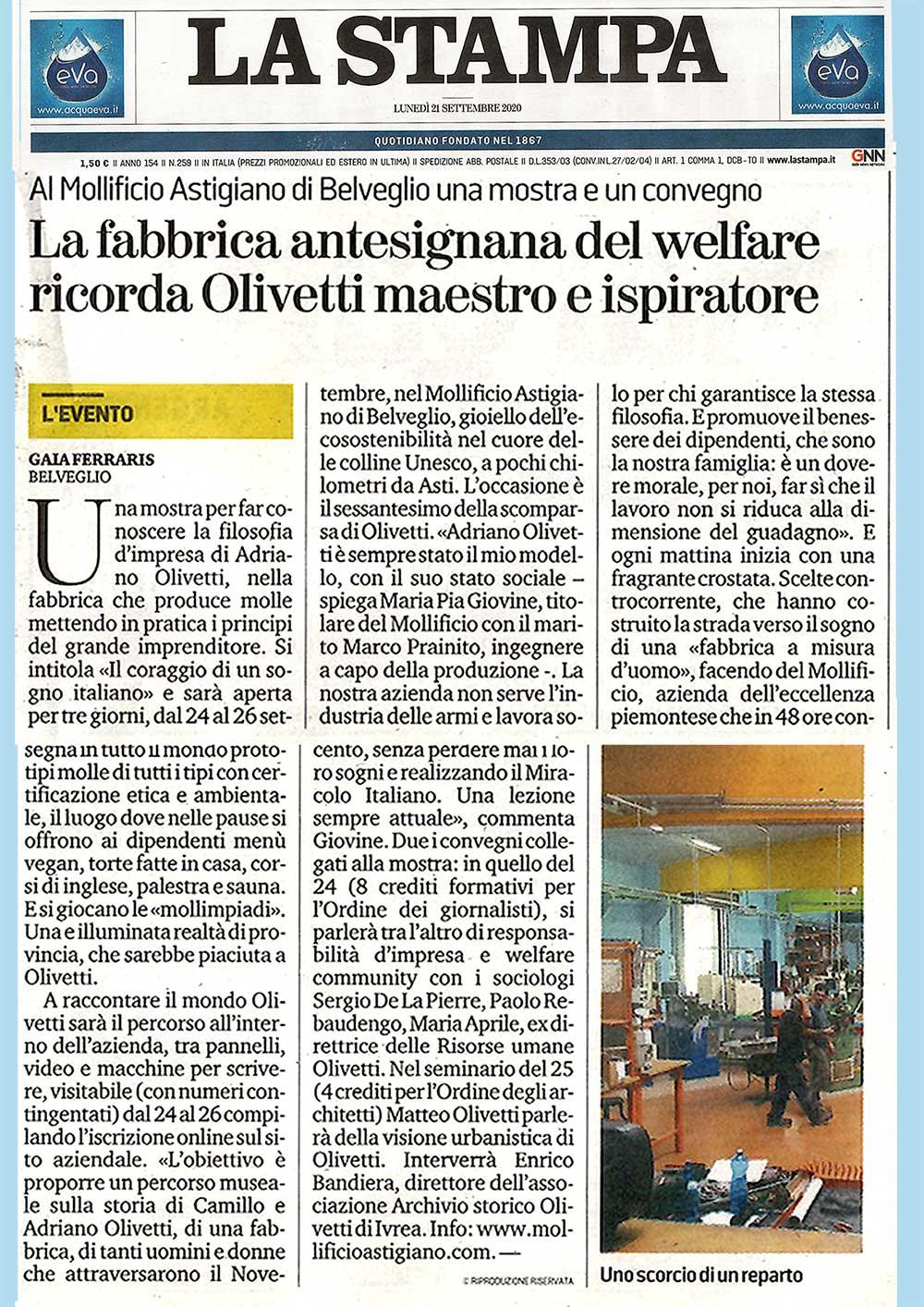 Olivetti-ispiratore-Mollificio-astigiano-la-stampa-belveglio