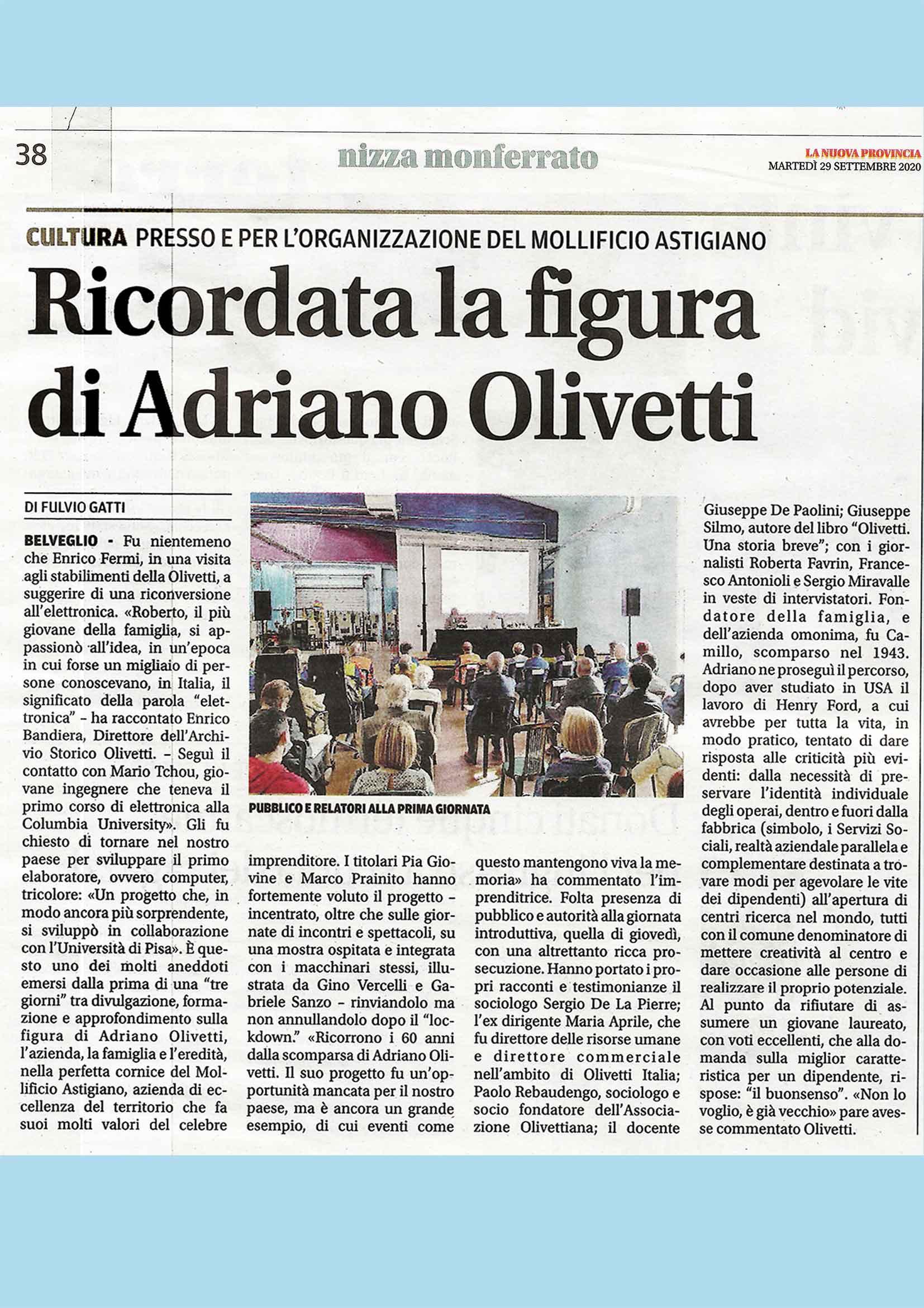 Ricordata-la-figura-di-Olivetti-La nuova provincia-29-9-2020